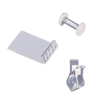 SIGN HOLDERS CLIPS, WOBBLER SPRINGS AND DEKO CLIP, CLAMP SIGN HOLDERS