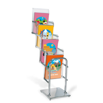 EXTENDABLE BROCHURE HOLDERS 4 POCKETS