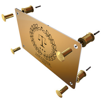 DELUXE BRASS SPACERS FOR WALL-MOUNTED SIGNS