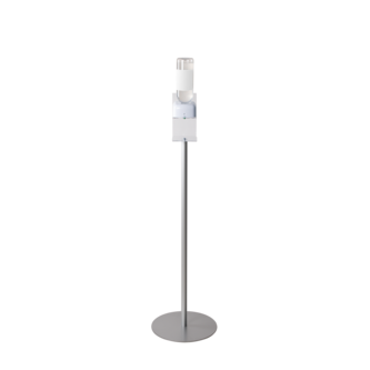 FLOOR STANDS WITH TOUCHLESS HAND SANITIZER DISPENSER HOLDER