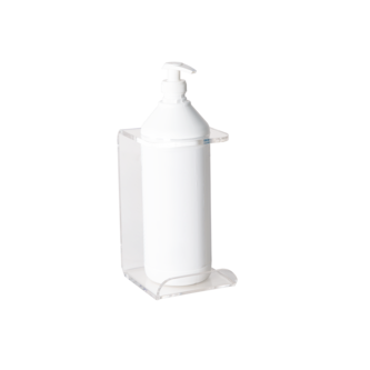CLEAR WALL MOUNTED HOLDERS FOR HAND SANITIZER DISPENSER