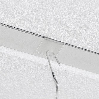 CLEAR PLASTIC CEILING CLIP