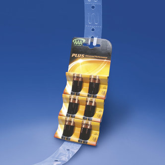 CLEAR PVC MERCHANDISING STRIPS