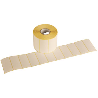 ROLLS SELF-ADHESIVE LABELS TO USE WITH THERMAL TRANSFER RIBBON